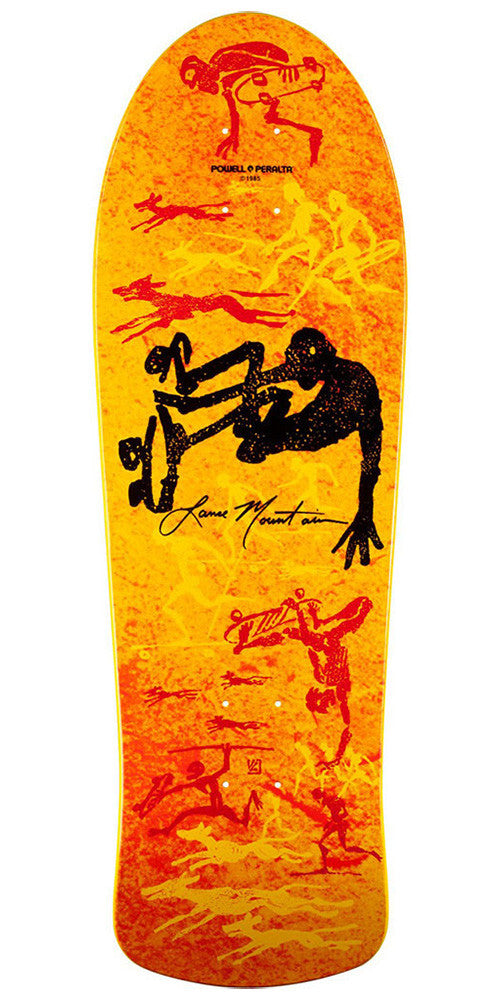 Powell Peralta Bones Brigade Lance Mountain Future Primitive - Orange - 10.0in x 30.75in - Skateboard Deck