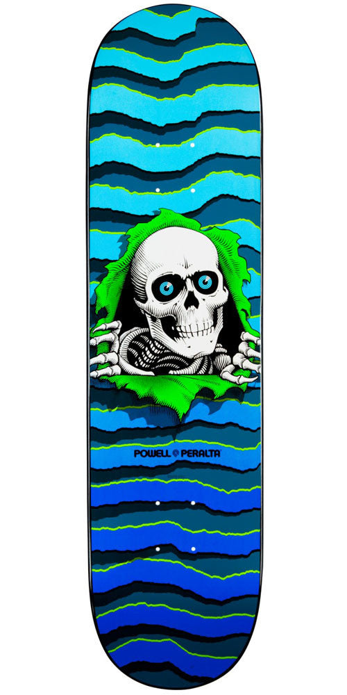 Powell Peralta New School Ripper - Blue - 8.25in x 32.5in - Skateboard Deck