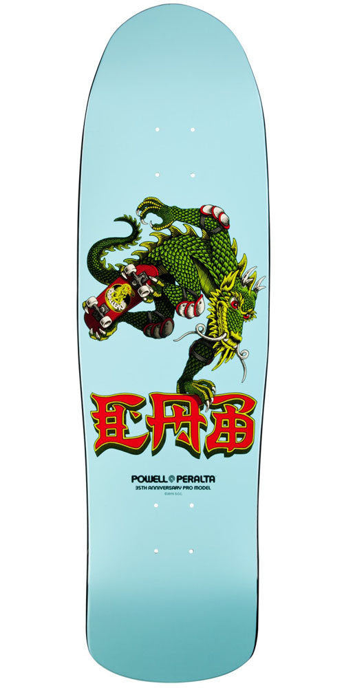 Powell Peralta Pro Steve Caballero 35th Year Anniversary Dragon - Blue - 9.0in x 31.9in - Skateboard Deck