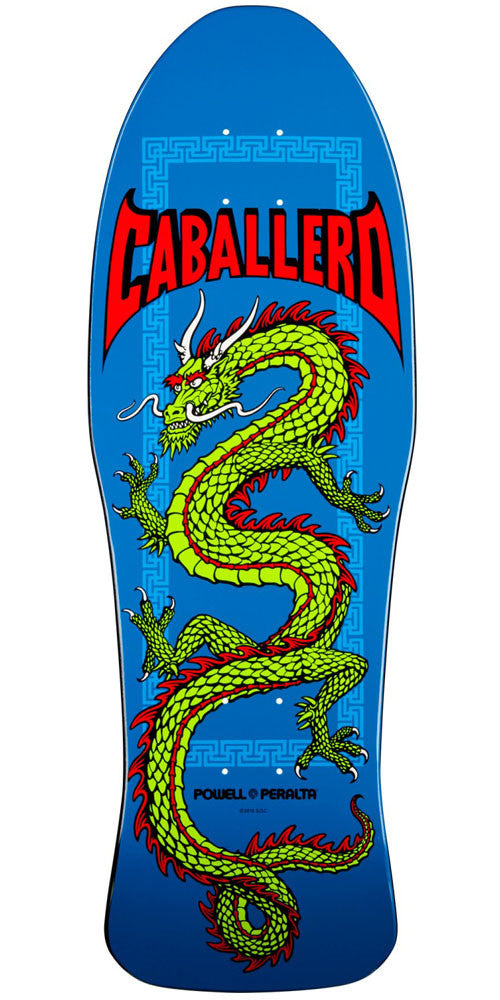 Powell Peralta Steve Caballero Chinese Dragon - Blue - 10.0in x 30.0in - Skateboard Deck