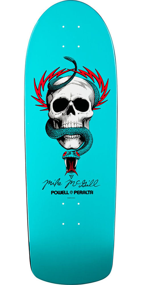 Powell Peralta Mike McGill Skull & Snake - Turquoise - 10.0in x 30.125in - Skateboard Deck