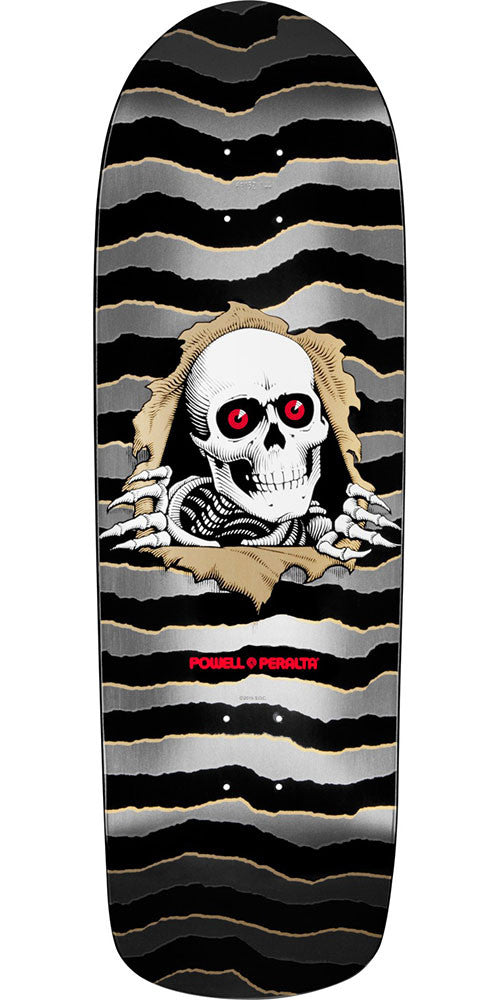 Powell Peralta Ripper - Grey - 10.0in x 32.375in - Skateboard Deck