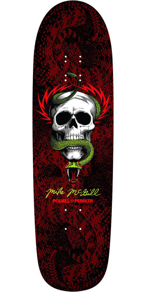 Powell Peralta Ray McGill Snake Skin Fun Shape 2 - Black/Red - 8.97in x 32.38in - Skateboard Deck