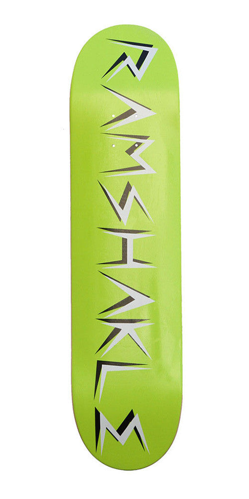 Ramshakle Logo - Green/White - 7.875 - Skateboard Deck