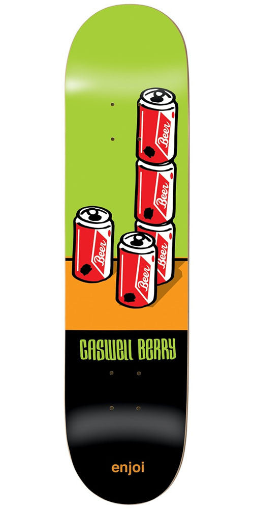Enjoi Caswell Berry Wray R7 - Green/Black - 8.0in - Skateboard Deck