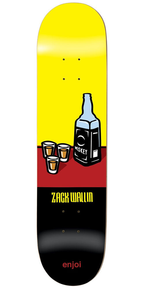 Enjoi Zack Wallin Wray R7 - Yellow/Black - 8.0in - Skateboard Deck
