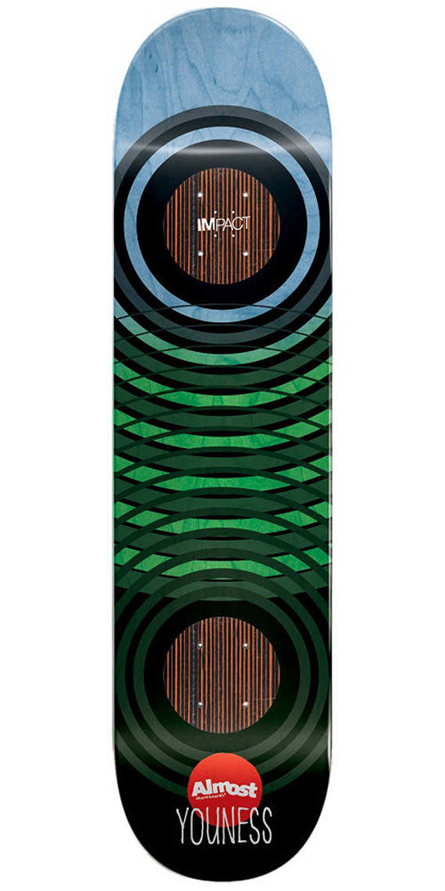 Almost Youness Amrani OG Trans Rings Impact - Blue/Black - 8.0in - Skateboard Deck