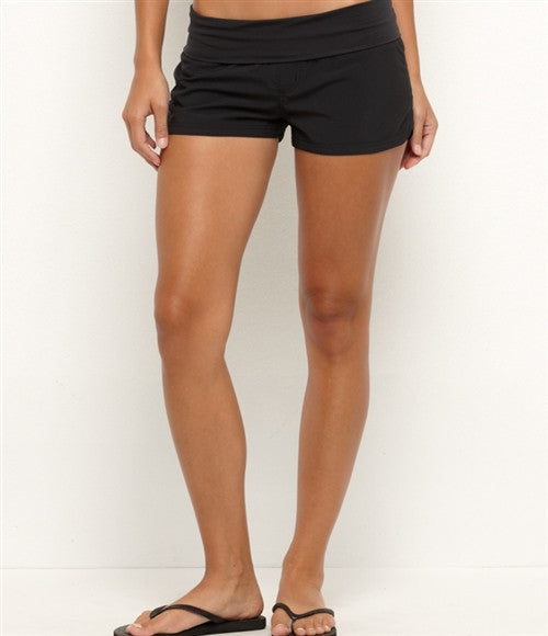 Roxy Endless Summer Yoga Short - Black - Womens Shorts