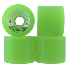 Divine Road Rippers Trans - Green - 70mm - Skateboard Wheels (Set of 4)