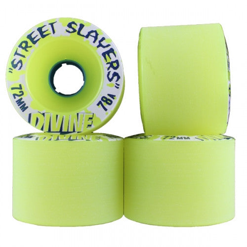 Divine Street Slayers - Green - 72mm - Skateboard Wheels (Set of 4)
