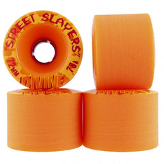 Divine Street Slayers - Orange - 72mm - Skateboard Wheels (Set of 4)