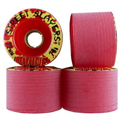 Divine Street Slayers - Red - 72mm - Skateboard Wheels (Set of 4)