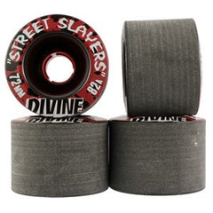 Divine Street Slayers - Black - 72mm 82a - Skateboard Wheels (Set of 4)
