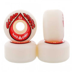 Black Label Blood Drops - White - 52mm - Skateboard Wheels (Set of 4)