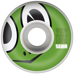 Toy Machine Turtle Face - White - 50mm 100a - Skateboard Wheels (Set of 4)