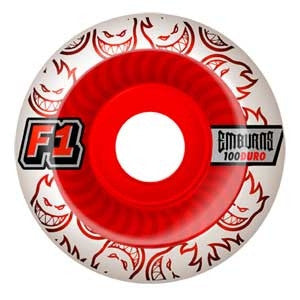 Spitfire F1 Street Burner Emburns Elixers - White/Red - 52mm - Skateboard Wheels (Set of 4)