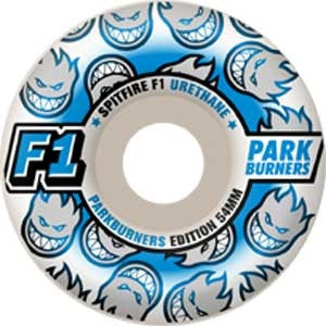 Spitfire F1 Park Burner - White - 54mm - Skateboard Wheels (Set of 4)