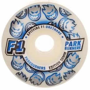 Spitfire F1 Park Burner - White - 56mm - Skateboard Wheels (Set of 4)