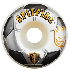 Spitfire Ballers Soccer - White/Black - 52mm - Skateboard Wheels (Set of 4)