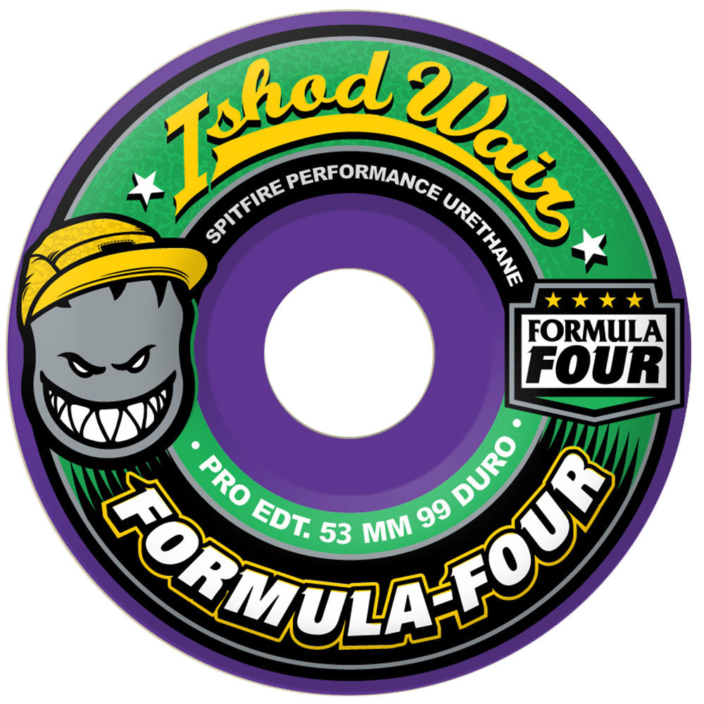 Spitfire Ishod Wair Formula Four Classic - Purple - 53mm 99a - Skateboard Wheels (Set of 4)