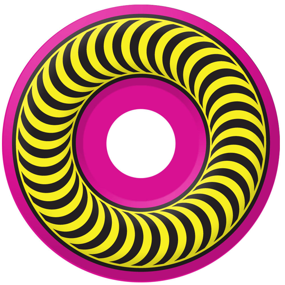 Spitfire Neon Classic - Neon Pink/Neon Yellow - 54mm 99a - Skateboard Wheels (Set of 4)
