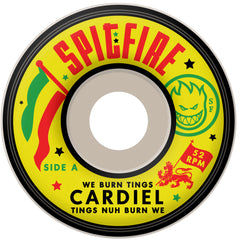 Spitfire Cardiel We Burn Tings Classic - White - 52mm 99a - Skateboard Wheels (Set of 4)