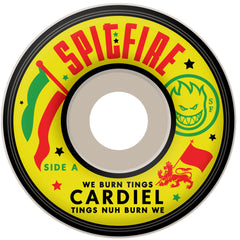 Spitfire Cardiel We Burn Tings Classic - White - 54mm 99a - Skateboard Wheels (Set of 4)