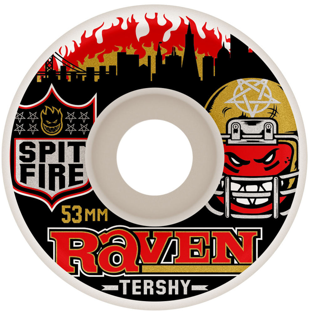 Spitfire Tershy Football Kings Classic - White - 53mm 99a - Skateboard Wheels (Set of 4)