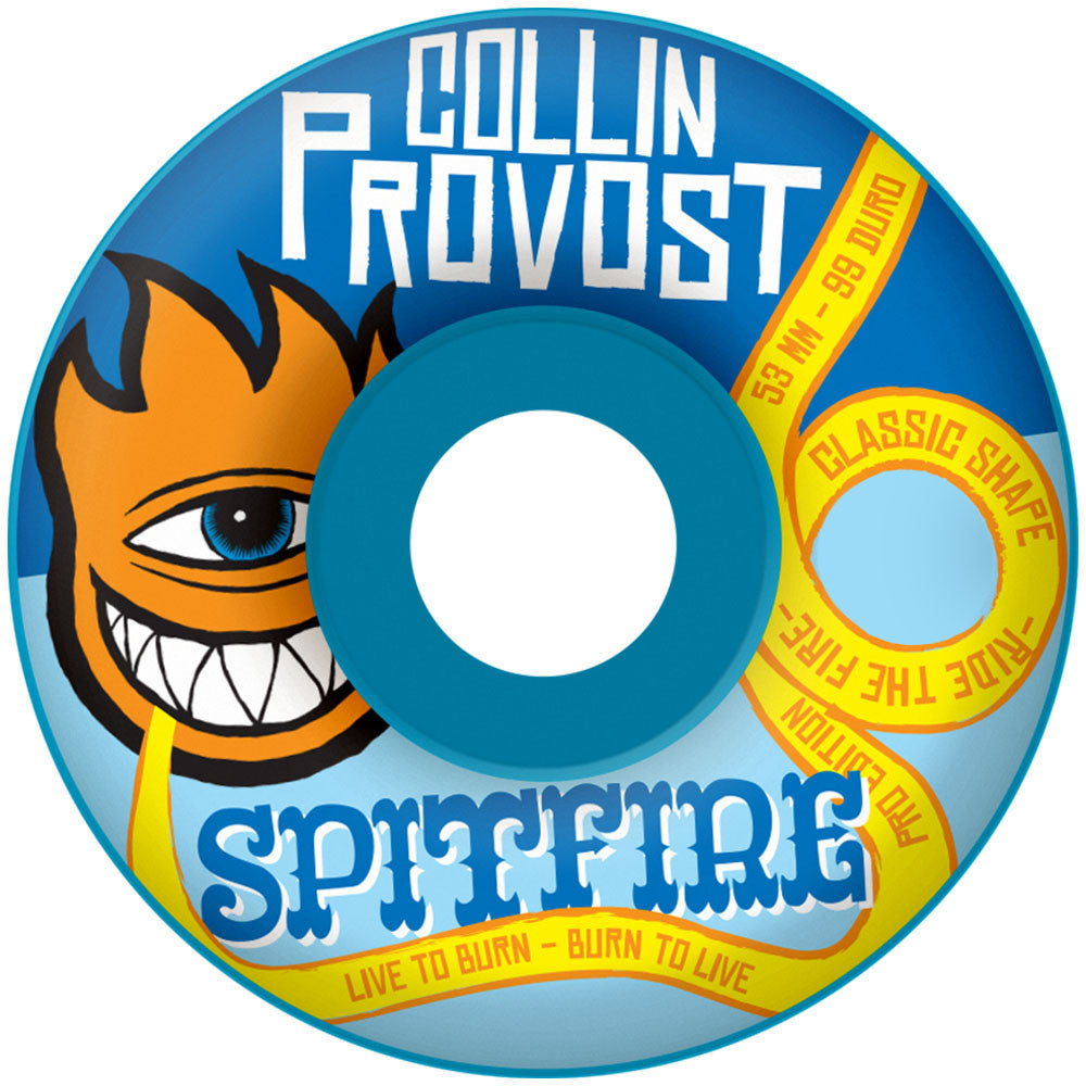 Spitfire Provost Sect Bighead Classic - Blue - 52mm 99a - Skateboard Wheels (Set of 4)