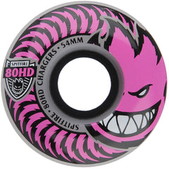 Spitfire 80HD Charger Classic - Pink - 54mm 80a - Skateboard Wheels (Set of 4)