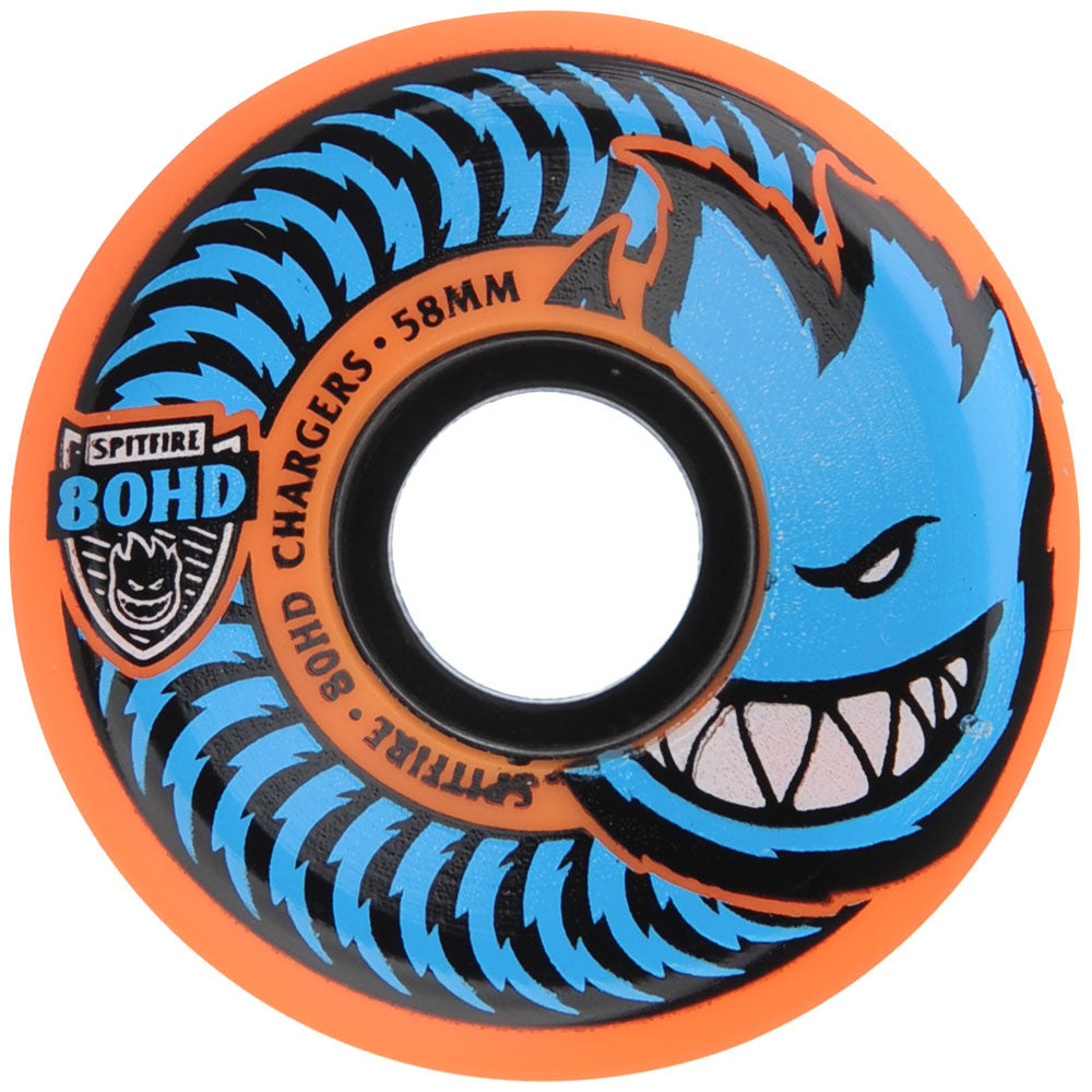 Spitfire 80HD Charger Conical - Orange - 58mm 80a - Skateboard Wheels (Set of 4)