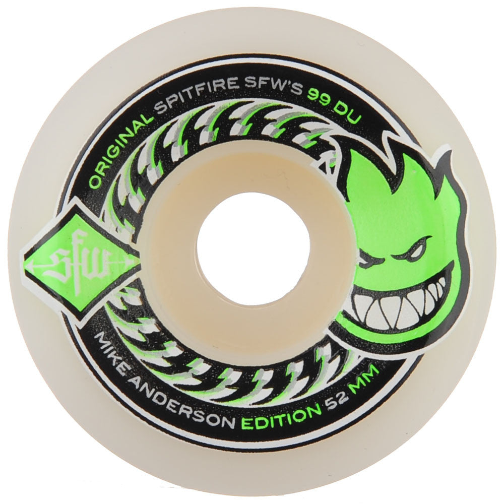 Spitfire Anderson SFW 2 - White - 52mm 99a - Skateboard Wheels (Set of 4)