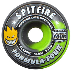Spitfire Formula Four Classic - Fallout Swirl - 54mm 99a - Skateboard Wheels (Set of 4)