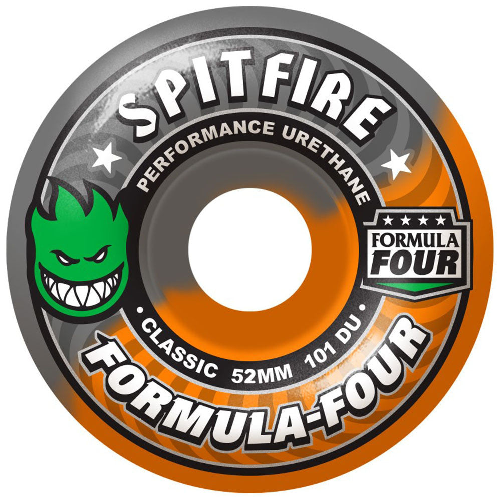 Spitfire Formula Four Classic - Hazard Swirl - 52mm 101a - Skateboard Wheels (Set of 4)