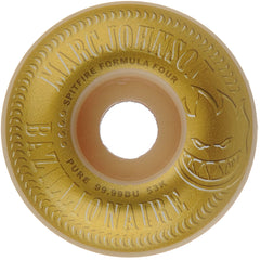 Spitfire Formula Four Marc Johnson Bazillion Classic - White/Gold - 53mm 99a - Skateboard Wheels (Set of 4)