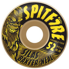 Spitfire Formula Four Silas Skunk Ape - White - 52mm 99a - Skateboard Wheels (Set of 4)