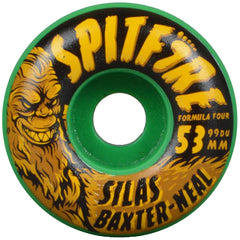 Spitfire Formula Four Silas Skunk Ape - Green - 53mm 99a - Skateboard Wheels (Set of 4)