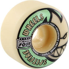 Spitfire Formula Four Stay Lit Glow Radial - Tan/Green - 53mm 101a - Skateboard Wheels (Set of 4)