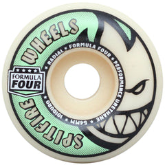 Spitfire Formula Four Stay Lit Glow Radial - Tan/Green - 54mm 101a - Skateboard Wheels (Set of 4)