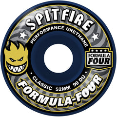 Spitfire Formula Four Midnight Run - Navy/Grey - 52mm 99a - Skateboard Wheels (Set of 4)