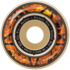 Spitfire Formula Four Hellfire Conical Full - Nature/Multi - 53mm 99a - Skateboard Wheels (Set of 4)