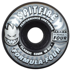Spitfire Formula Four Shadow Play Classic  - Black - 52mm 99a - Skateboard Wheels (Set of 4)