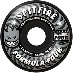 Spitfire Formula Four Shadow Play Classic  - Black - 54mm 99a - Skateboard Wheels (Set of 4)