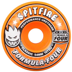 Spitfire Formula Four Agent Orange - Orange - 54mm 101a - Skateboard Wheels (Set of 4)