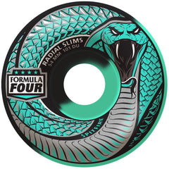 Spitfire Formula Four Radial Slim Snake Bite - Mint - 54mm 101a - Skateboard Wheels (Set of 4)