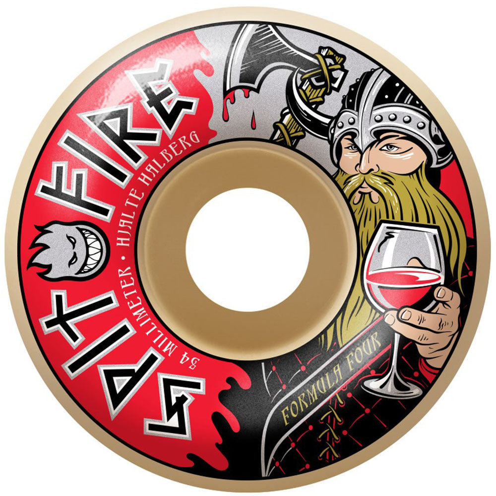 Spitfire Formula Four Hjalte Warlord Classic - Multi- 54mm 99a - Skateboard Wheels (Set of 4)