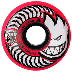 Spitfire 80HD Chargers Conical - Pink- 58mm 80a - Skateboard Wheels (Set of 4)