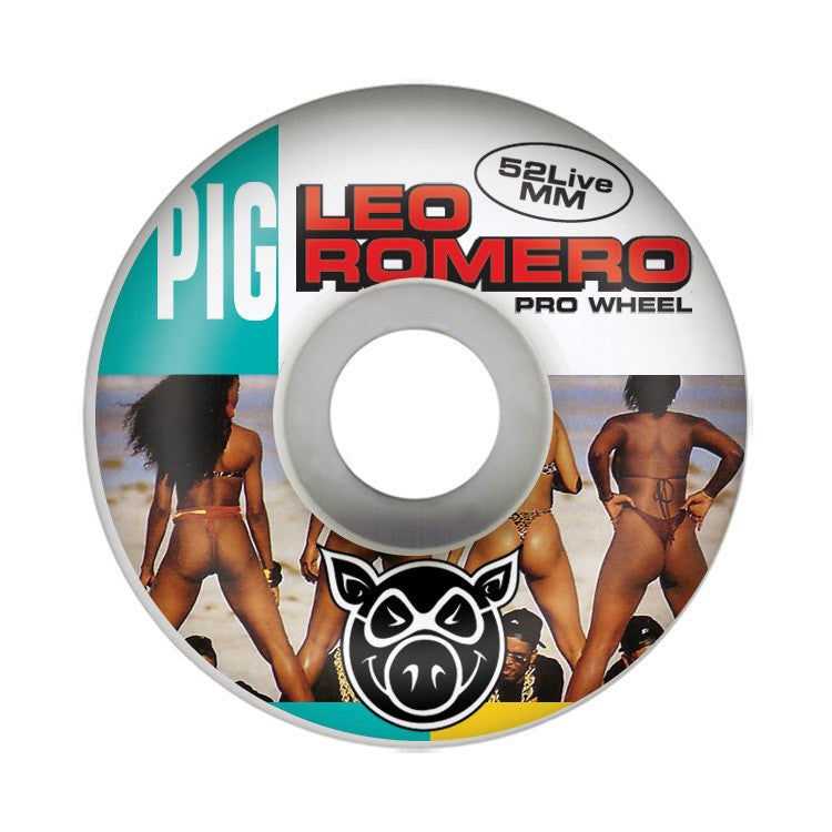 Pig Leo Romero 2 Live - White - 52mm - Skateboard Wheels (Set of 4)