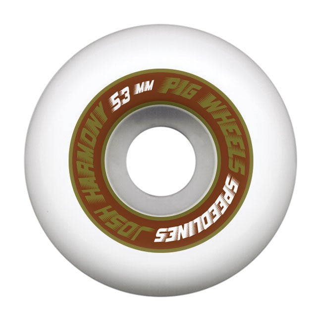 Pig Josh Harmony Pro Speedline - White - 53mm - Skateboard Wheels (Set of 4)
