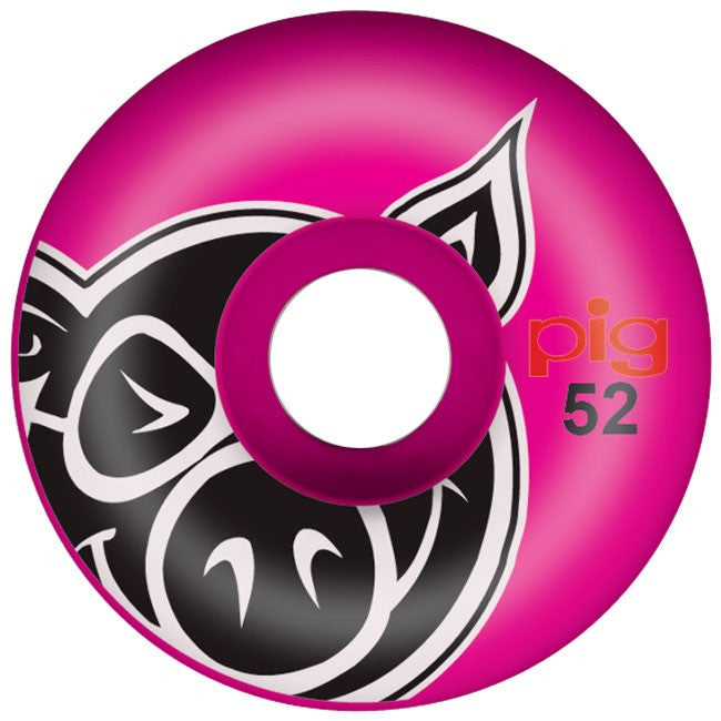 Pig Pighead - Pink - 52mm - Skateboard Wheels (Set of 4)